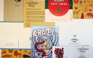 Ansichtkaarten op kraft en recycled papier