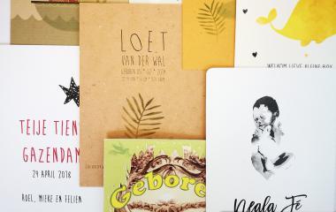 Duurzame geboortekaartjes op recycled papier