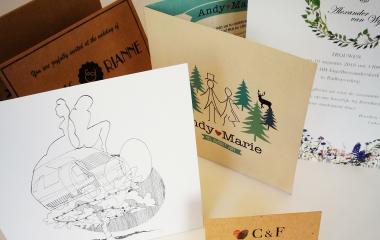 Duurzame trouwkaarten op recycled papier